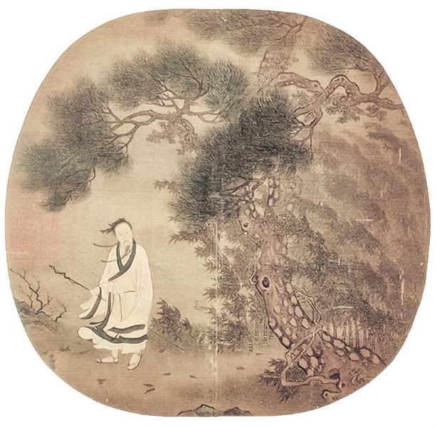 宋許道寧松下曳杖 冊 故-畫-001265-00008,許道寧(國立故宮博物院提供)
