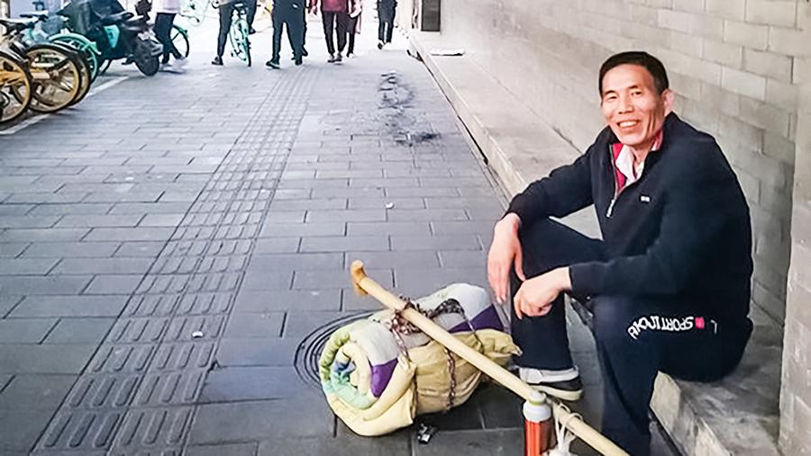 北京維權人士王國齊流浪街頭 屢遭警察騷擾