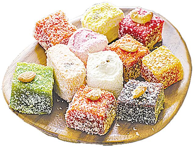 多采多姿的土耳其軟糖,讓人看了目不暇接!