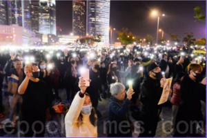 中共將電話卡實名制搬到香港 記協抗議【影片】
