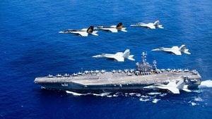 美日舉行雙航母演練 日本準航母監視中共戰艦