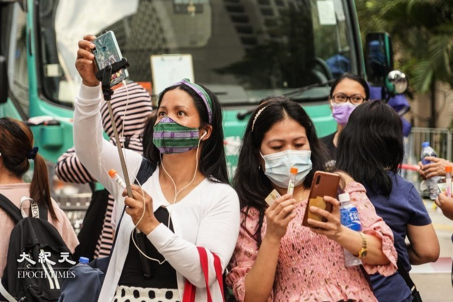 禁飛令致本港缺6,000名外傭 僱傭代理望准打疫苗菲傭來港