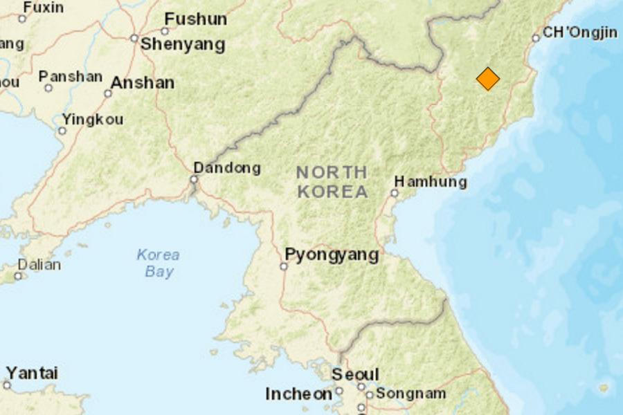 在今日(9日)上午8時30分(當地時間9月9日上午9時30分),美國地質調查局(USGS)錄得北韓境內發生一次強烈地震,震級達到黎克特制5.3級,震源深度為0公里,懷疑是北韓當局進行核試驗所引致。(USGS擷圖)