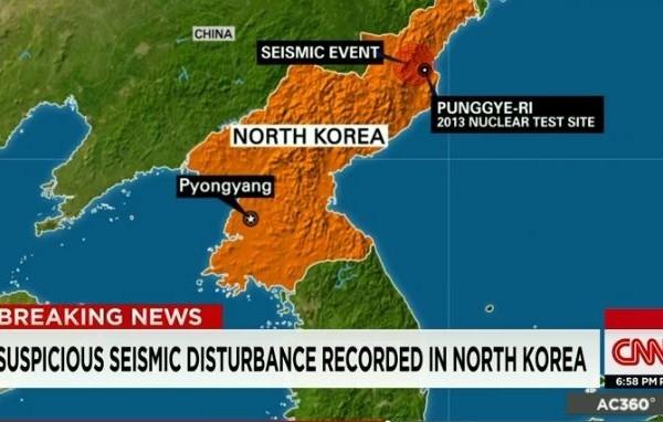 北韓9日進行了第五次核試驗。國際多個機構監測到的地震強度顯示這可能是北韓迄今為止進行過的能量最大的一次核試驗。(視像擷圖)
