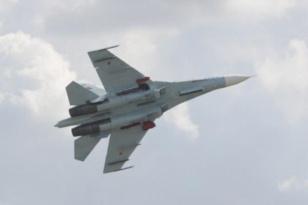 俄羅斯戰機SU-27。(AFP)