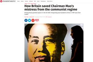 英媒:英政府曾為毛的情婦提供政治庇護?