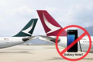 三星Note7屢傳爆炸 全球多家航空公司禁用