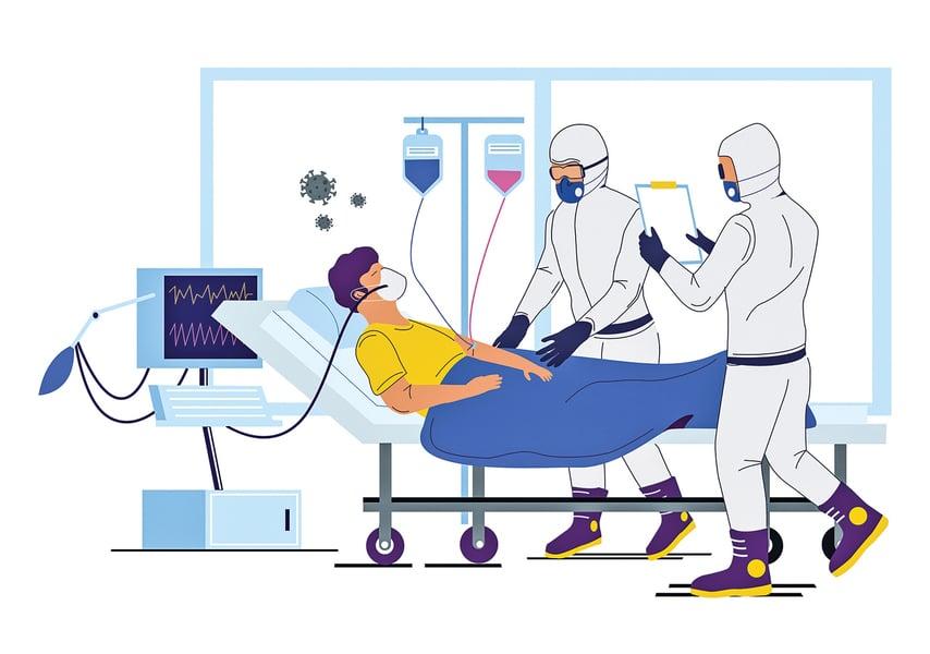 染疫者出現加護病房症候群 渾然不知自身脫序行為