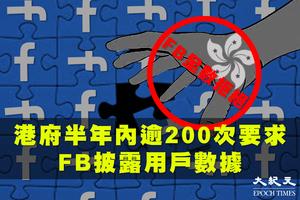 港府要求Facebook披露用戶數據 半年內逾200次 全數遭拒【影片】