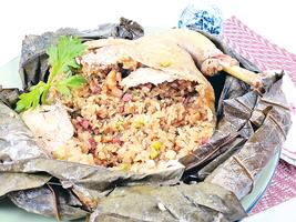 【梁廚美食】歡慶端午節 梁師傅教你做美食 荷葉糯米釀全雞