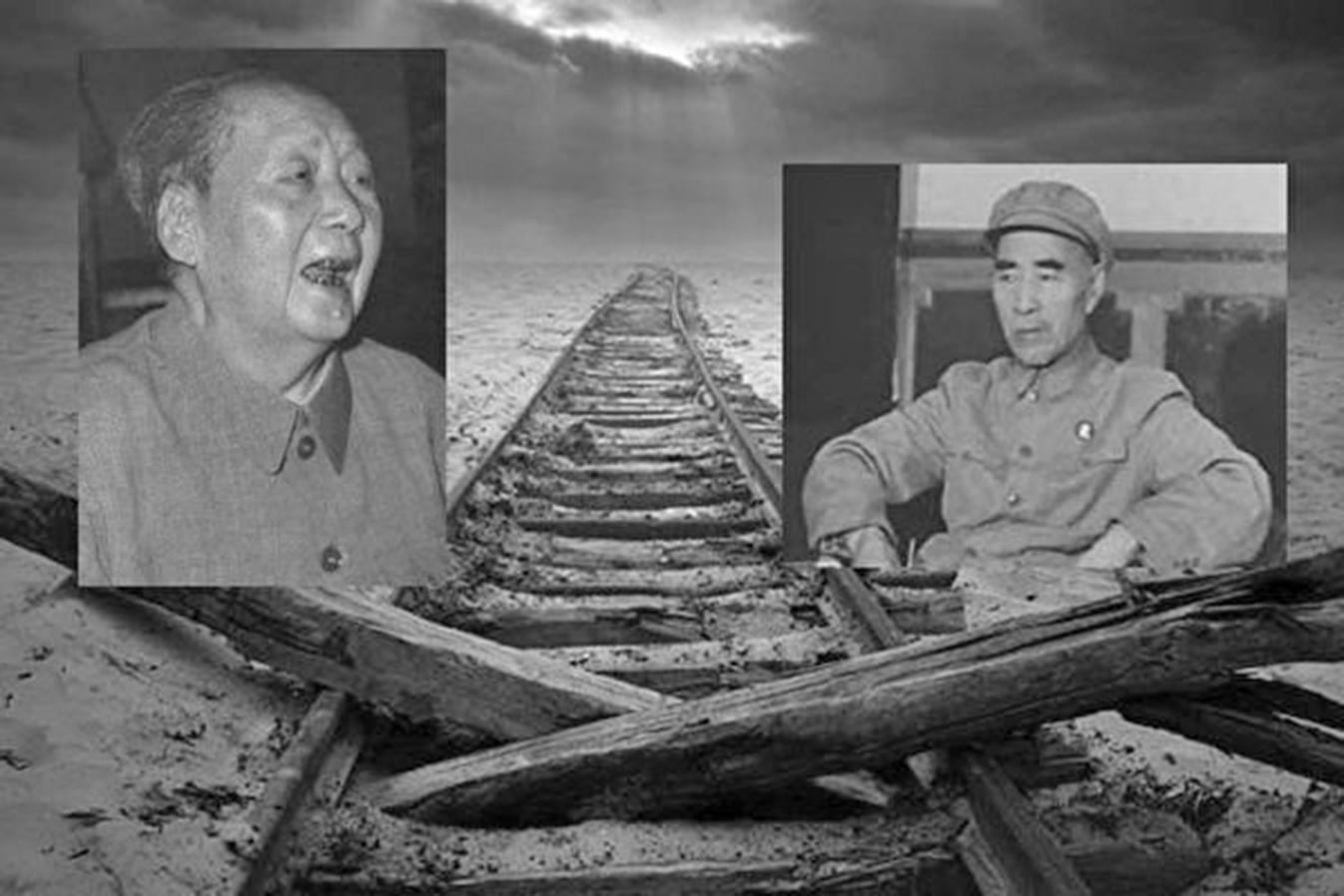 毛澤東的接班人林彪在蒙古離奇死亡。(大紀元合成)