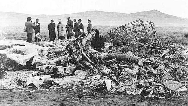 林彪出走,所搭乘之256號三叉戟專機在蒙古溫都爾汗墜毀,機上所有成員全部死亡。(網絡圖片)