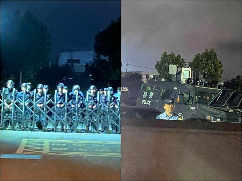 中共建黨百年 江浙爆大規模學潮後 警仍駐守校園