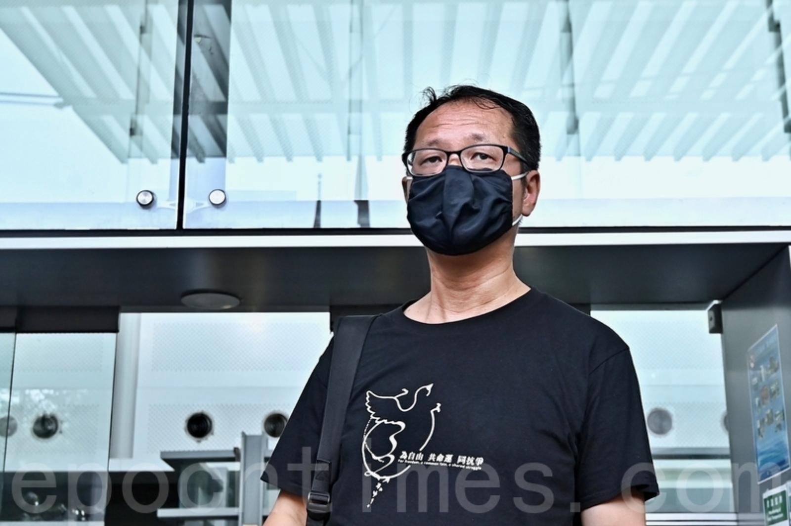 近日,親共陣營繼續叫囂取締支聯會,支聯會秘書蔡耀昌表示,支聯會將合法、理性地做一貫做的事。(宋碧龍/大紀元)