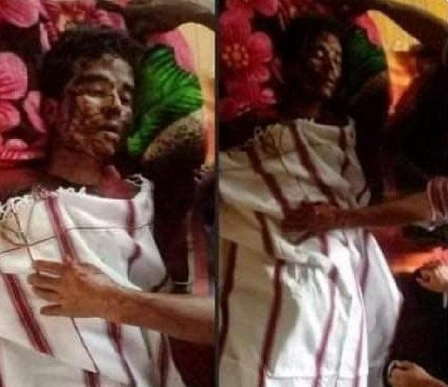 一名反對軍政府的抗議者,軍警闖入其家中抽打致死。(受訪者提供)