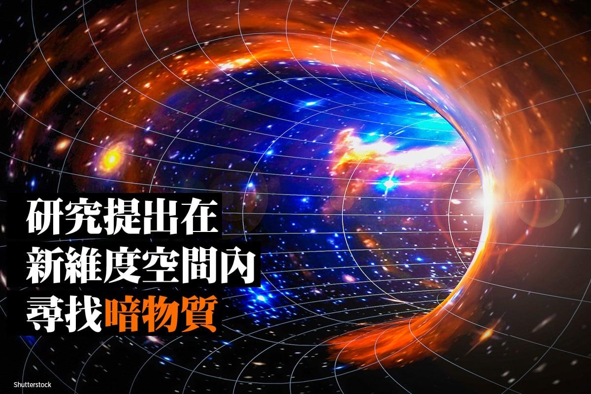 宇宙天體與另外空間概念圖。(ShutterStock)