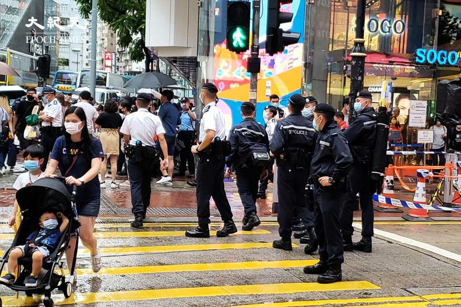 612兩周年直播 警封東角道、記利佐治街 行人:如警察遊行