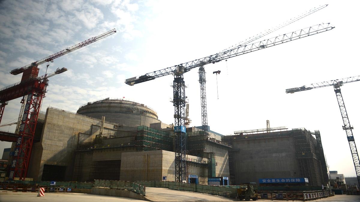 圖為2013年12月,廣東省台山市正在建設的中法台山聯合核電站。(PETER PARKS/AFP via Getty Images)