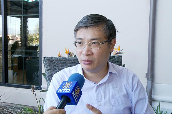 台灣香港協會理事長桑普接受專訪,暢談港人移居台灣的現況。資料圖。(新唐人電視台)