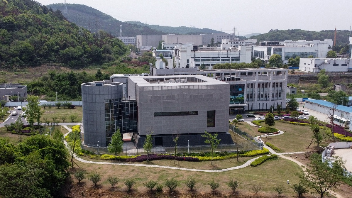 中國科學院武漢病毒研究所的P4實驗室。(HECTOR RETAMAL/AFP via Getty Images)