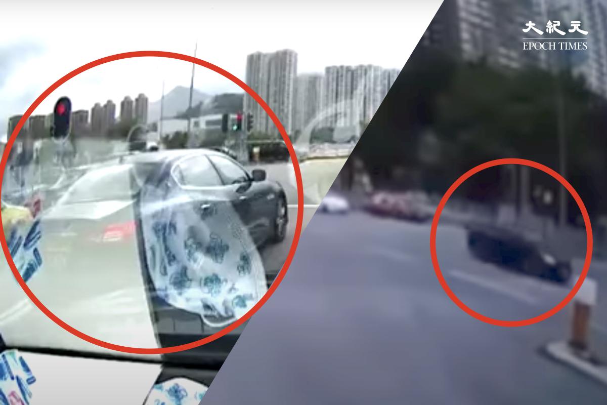 前日(13日)下午沙田大涌橋路發生的致命交通意外,事件再多一名29歲女司機被捕。據悉為肇事白色私家車跟隨闖燈的黑色中港兩地牌私家車司機,被指涉嫌危險駕駛。(網路影片截圖)