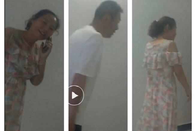 6月12日,身患淋巴癌湖北訪民尹登珍在北京被劫訪、關押,圖爲24小時監控她的政府人員。(受訪者提供)