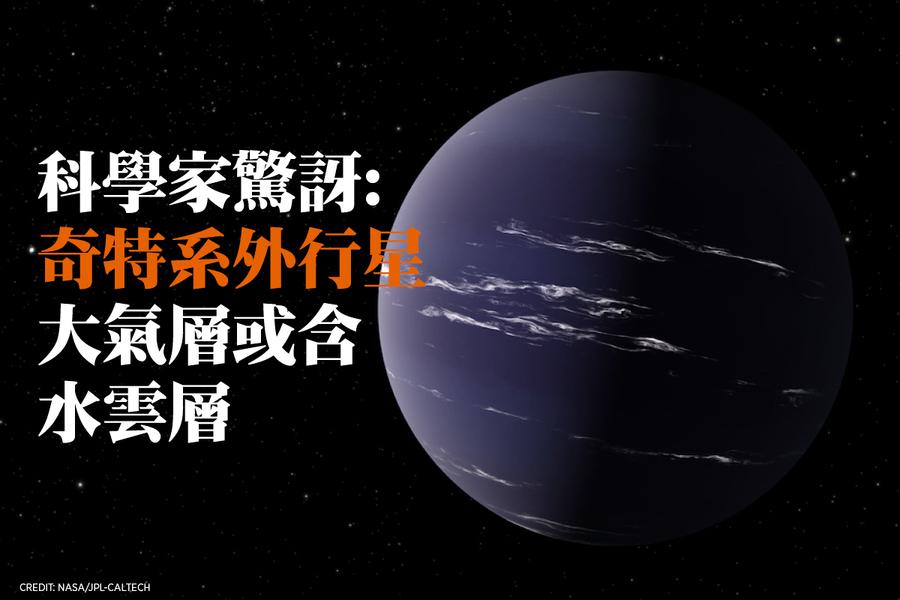奇特系外行星大氣層或含水雲層 科學家驚訝