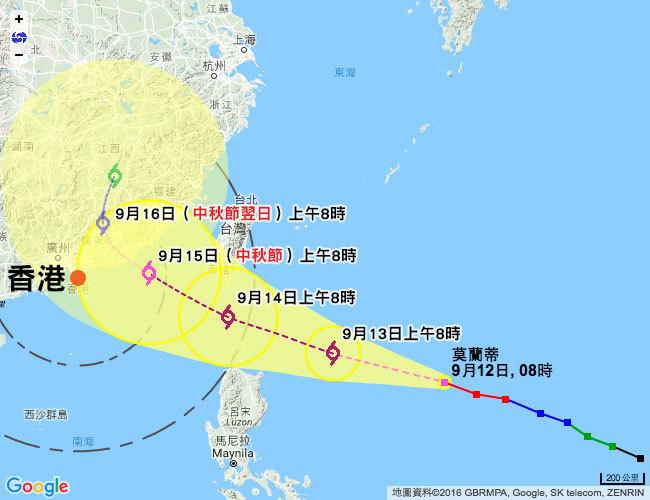 香港天文台在今日(12日)正午12時發出特別天氣提示,表示本周中期本港預料會受到熱帶氣旋影響,屆時或會有大風及狂風驟雨的天氣,可能影響市民慶祝中秋佳節。(香港天文台網頁)