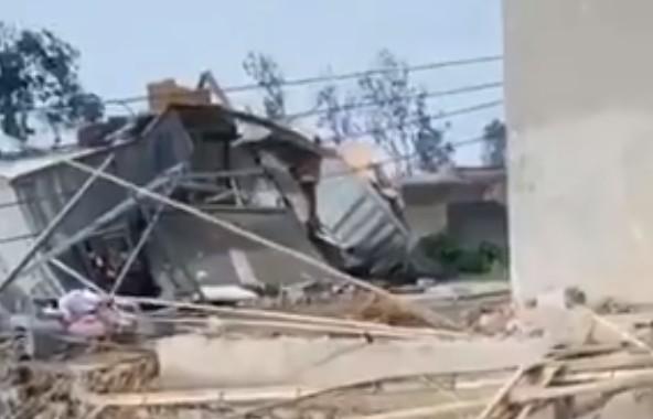 龍捲風襲擊江蘇徐州 十二人受傷 近百間房損毀