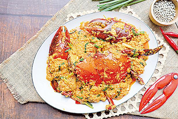 這一款三文治食譜的發想來自於泰國料理「咖哩炒螃蟹」。