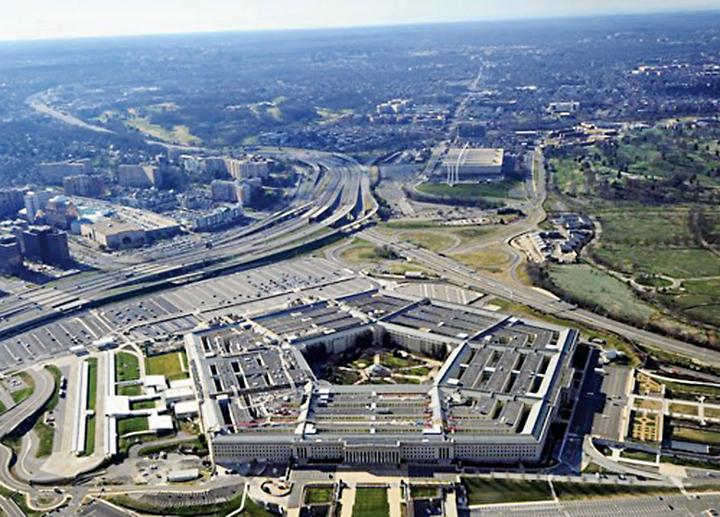 美國國防部五角大樓空拍圖。(AFP via Getty Images)
