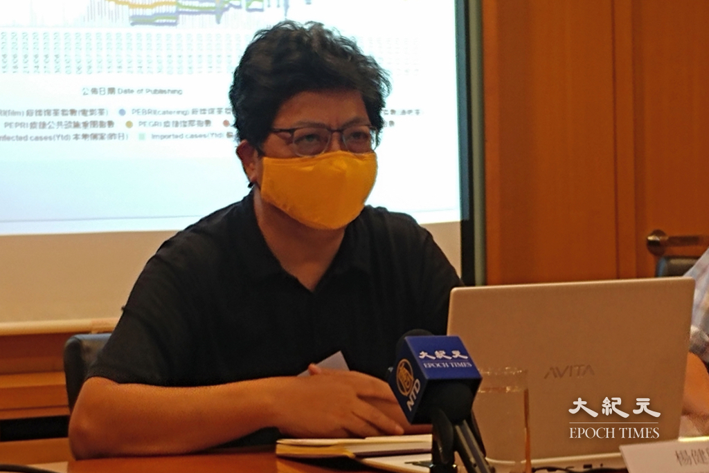 記協主席楊健興回應今日(17日)壹傳媒事件指,難以用文字形容香港新聞的恐怖情況。資料圖片。(溫迪/大紀元)