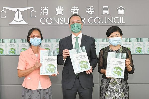 消委會追蹤研究發現5年間香港的可持續消費指數(SCI)步升幅輕微,同時有個別回收行為呈下降趨勢,情況令人憂慮。(消委會提供)