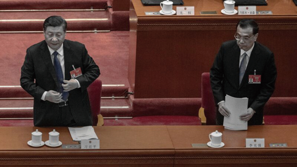中共領導人習近平(左)和李克強。(Kevin Frayer/Getty Images)