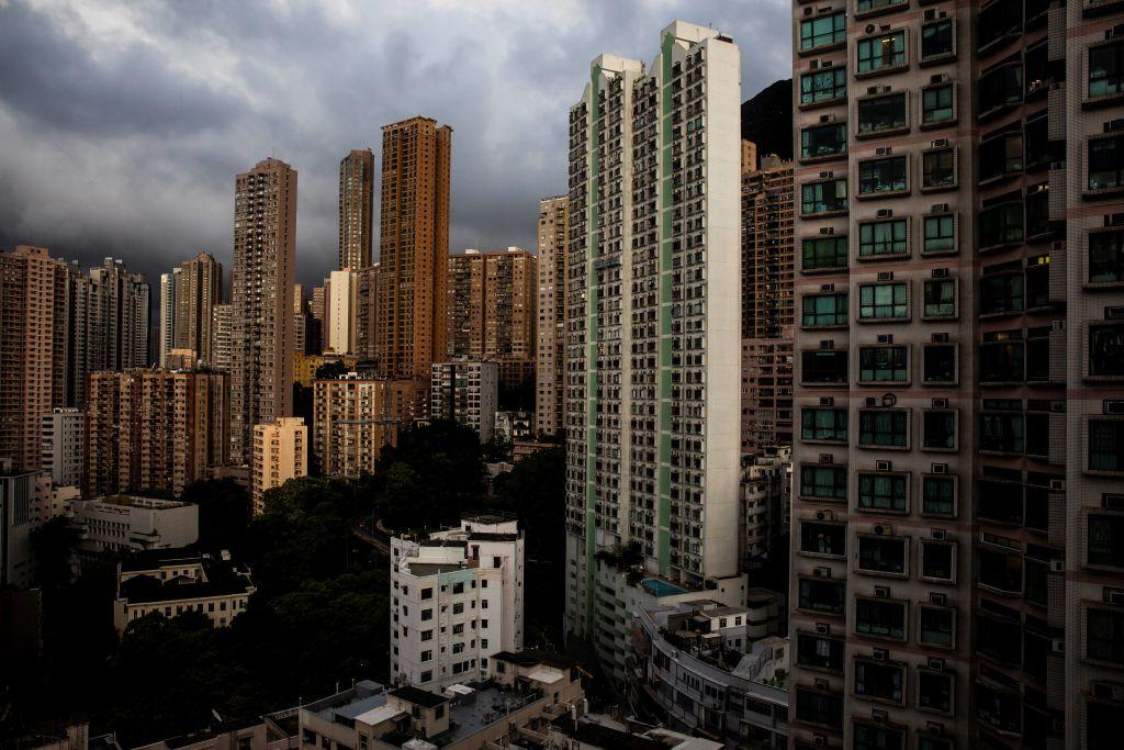 中原城市領先指數CCL今(6月18日)公佈截至13/6,香港樓價一周上升0.48%。(ISAAC LAWRENCE/AFP via Getty Images)