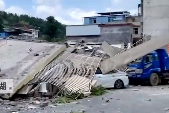 湖南一棟七層民房突然垮塌 網民:看不見鋼筋