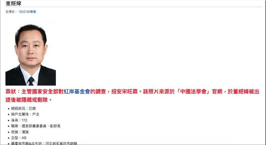 美媒曝董經緯是中共最高級別出逃者 中共官媒讓他「現身」