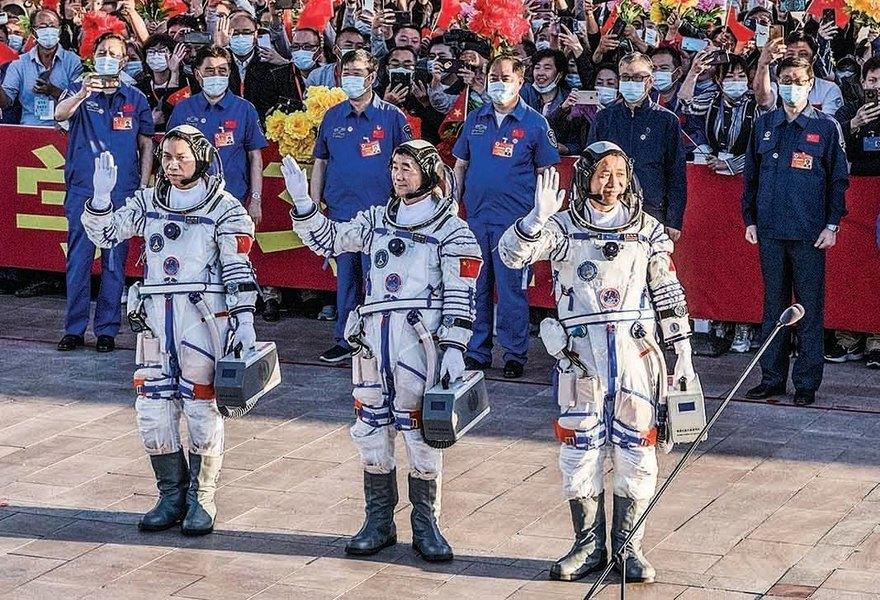 中共在太空站建黨支部 引諷