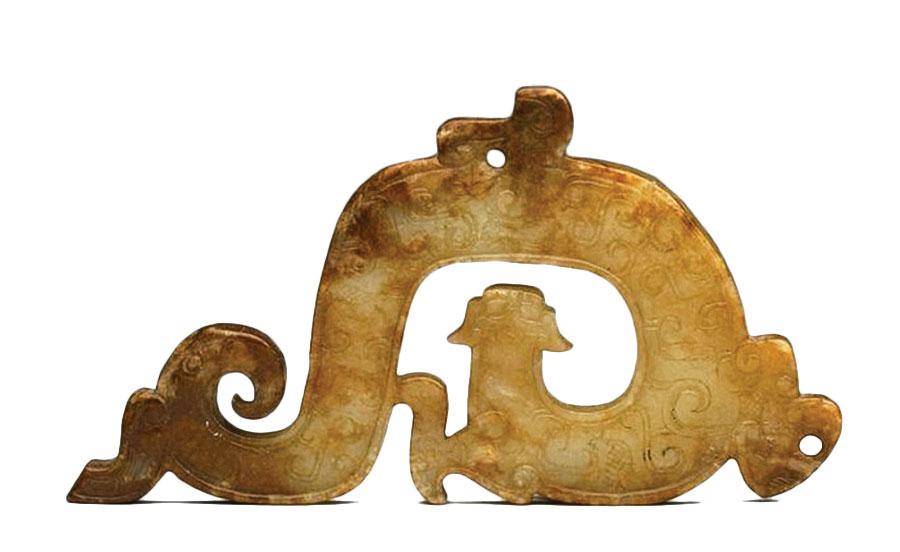 戰國 螭虎紋佩(國立故宮博物院提供)