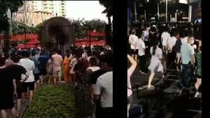 傳佛山人上街抗議封鎖 深圳人打疫苗當場倒地