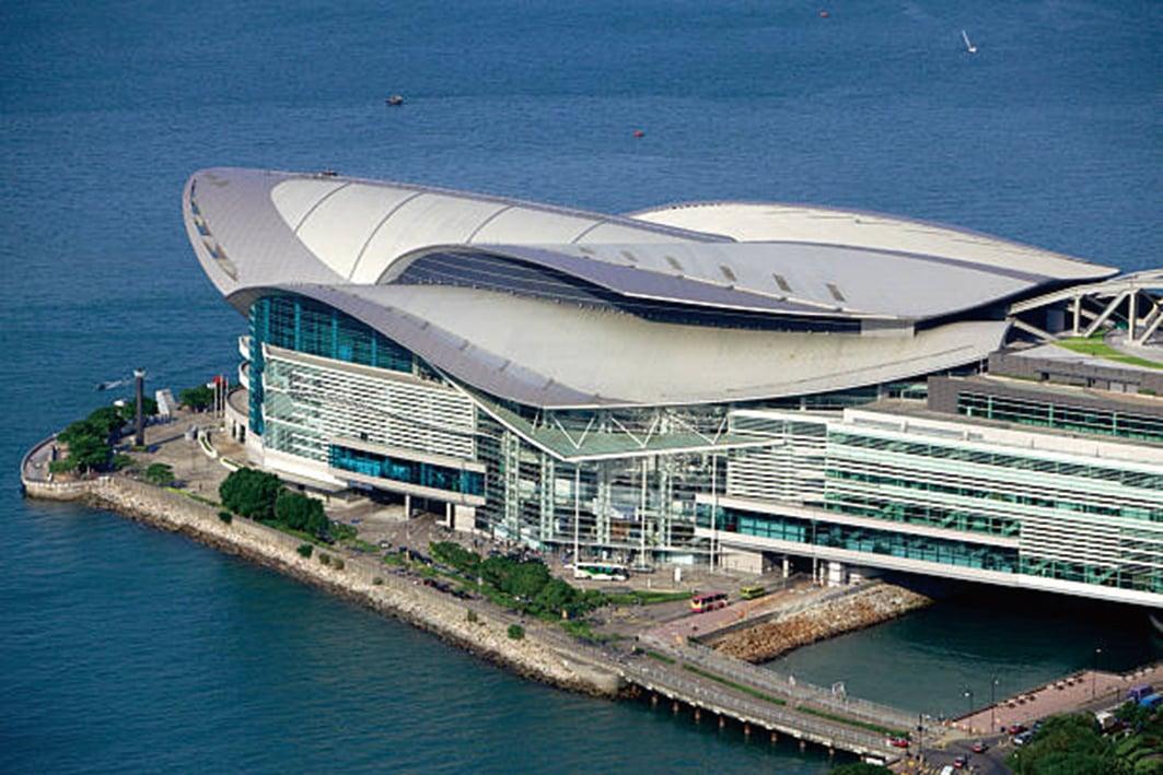 灣仔會展中心像是龜的形狀,有石龜落海陸沉的意思。(Pixabay)