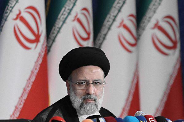2021年6月21日,伊朗當選總統萊希(Ebrahim Raisi)在當選後首次於德黑蘭的新聞發佈會上發表講話。(ATTA KENARE / AFP via Getty Images)