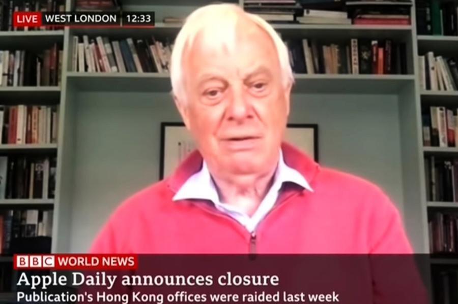 彭定康接受BBC訪問:當年《大公》《文匯》誣衊港英政府也沒被停運 【影片】