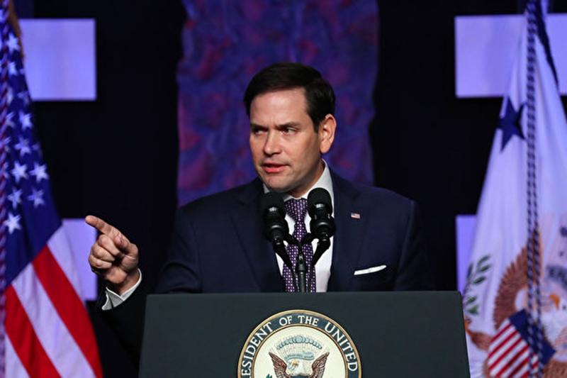 美國參議院情報委員會副主席魯比奧(Marco Rubio)揭露:中國實驗室裏還有更可怕的東西。(Joe Raedle/Getty Images)