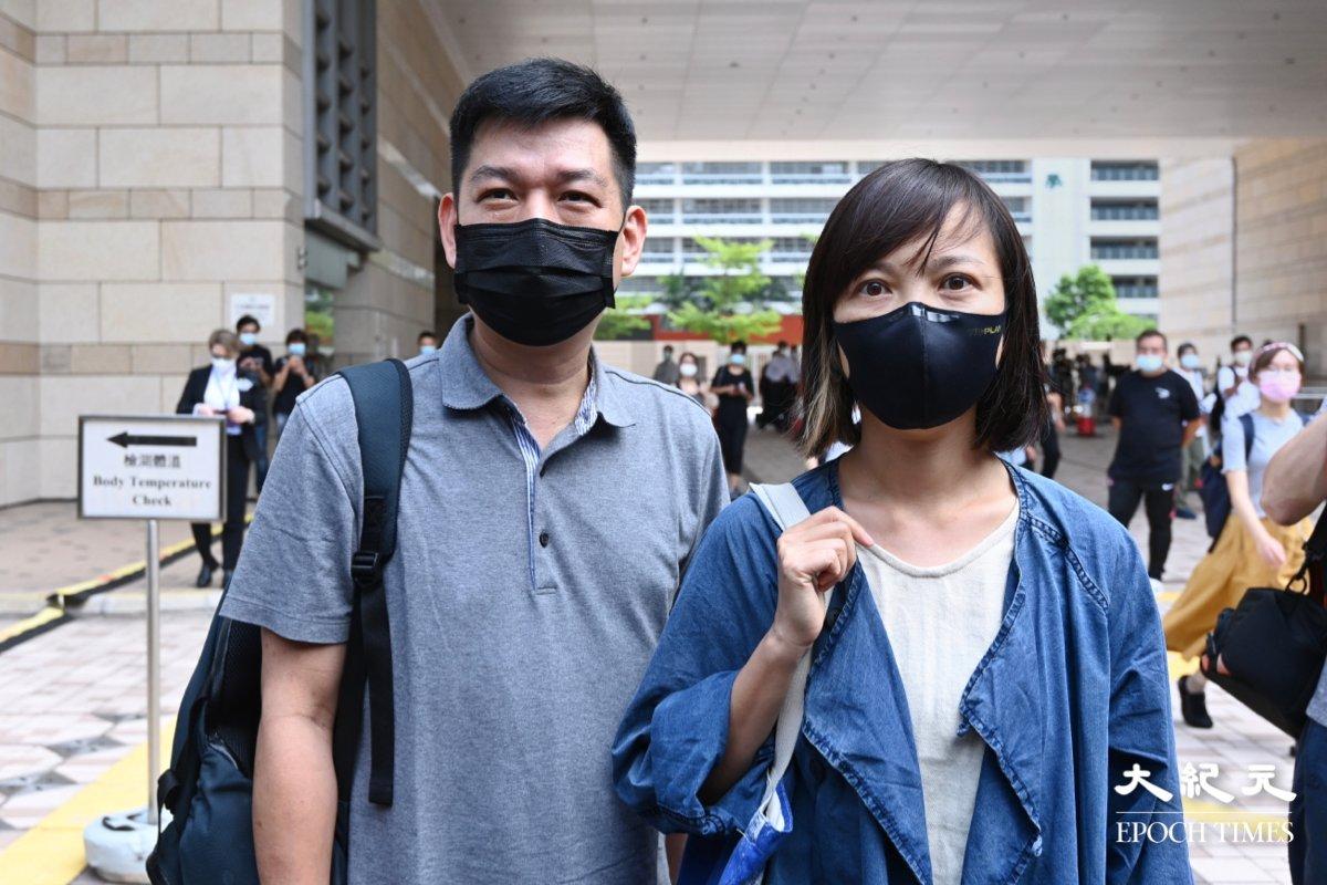 《蘋果》前副社長陳沛敏(右)於6月23日向高等法院作出申請,要求警方交回新聞材料。(宋碧龍/大紀元)