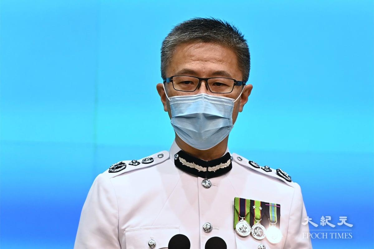 蕭澤頤表示,調查還在繼續,不排除再拘捕前《蘋果》員工。 圖為蕭於25日正式上任。(宋碧龍/大紀元)