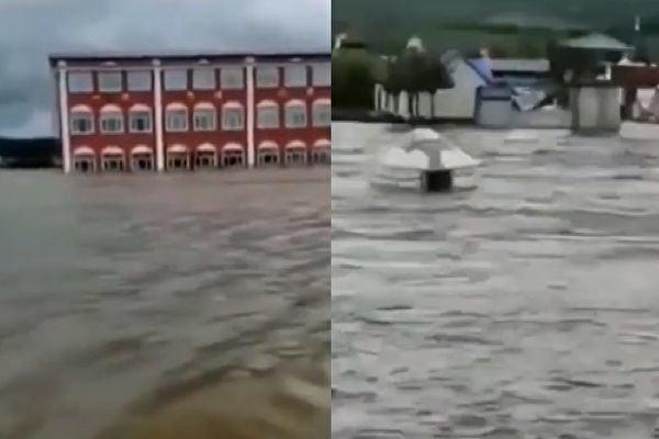 黑龍江多段水位超警戒 最大洪峰七十五年一遇