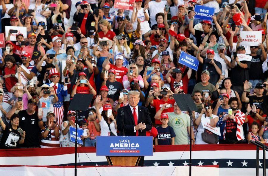 特朗普出席大型集會 支持者提前數天露營場外聲援