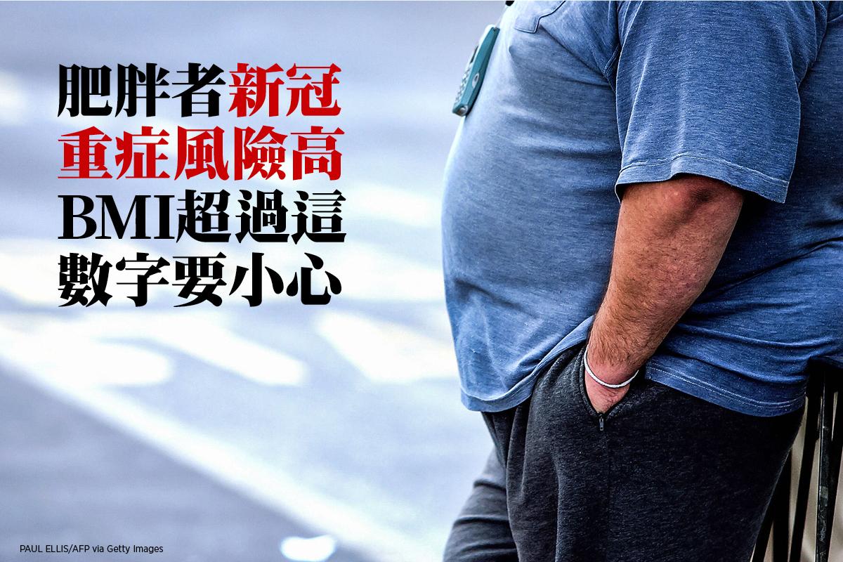 肥胖者感染新冠病毒容易重症,降低風險方法是減肥。(PAUL ELLIS/AFP via Getty Images)