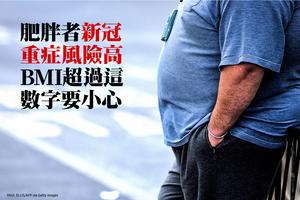 肥胖者新冠重症風險高 BMI超過這數字要小心